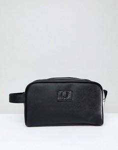 Черная дорожная сумка Fred Perry Saffiano - Черный