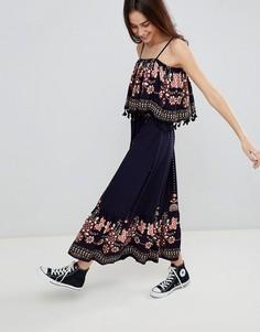 Платье макси с кисточками Brave Soul Kaylee - Темно-синий