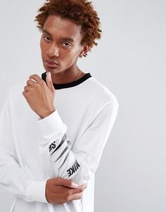 Белый лонгслив с принтом на рукаве Nike SB 886100-100 - Белый