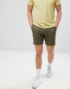 Шорты чиносы Selected Homme - Зеленый