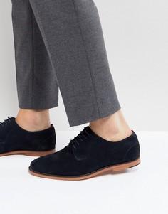 Темно-синие замшевые туфли на шнуровке Walk London Paul - Темно-синий