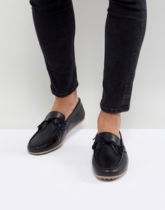 Черные кожаные лоферы Walk London Albert - Черный