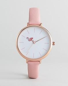 Часы с фламинго ASOS DESIGN - Розовый