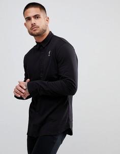 Черная трикотажная рубашка с логотипом Religion - Черный