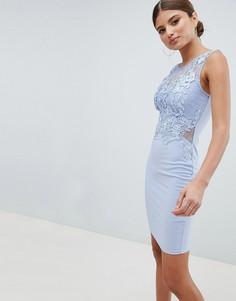 Кружевное облегающее платье Lipsy - Синий