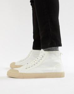 Белые высокие кеды Burton Menswear - Белый
