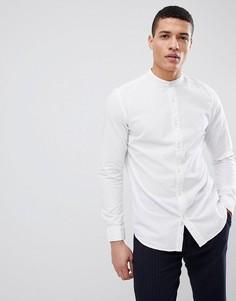 Рубашка из ткани сирсакер с воротником на пуговицах Selected Homme - Белый