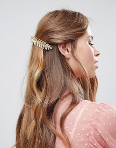 Заколка для волос с дизайном в виде виноградного листа ASOS DESIGN - Золотой