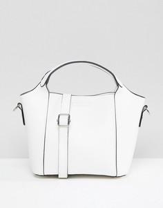 Белая большая сумка-тоут Yoki Fashion - Белый