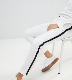 Зауженные брюки с черными полосками по бокам Noak - Белый