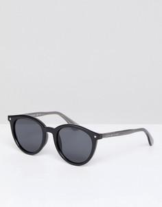 Черные круглые солнцезащитные очки Tommy Hilfiger - Черный