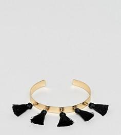 Браслет-манжет с кисточками ASOS DESIGN Curve - Золотой