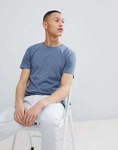 Хлопковая футболка Selected Homme - Синий