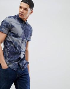 Рубашка с короткими рукавами и гавайским принтом Jack & Jones Premium - Темно-синий