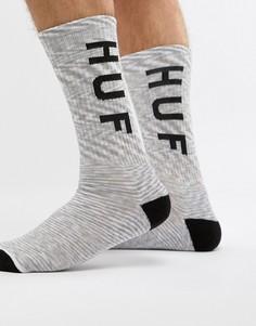 Белые меланжевые носки с логотипом HUF Original - Белый