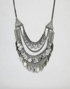 Броское ожерелье-цепочка ASOS DESIGN - Серебряный