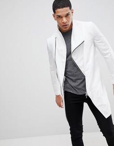 Асимметричная нейлоновая куртка с застежкой на молнию Religion - Белый