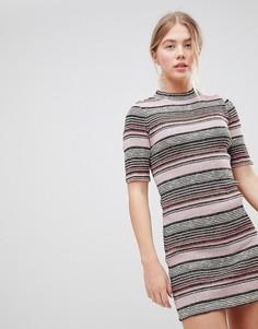 Облегающее платье в полоску First & I - Мульти