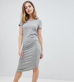 Асимметричное платье миди со сборками Noisy May Petite - Серый