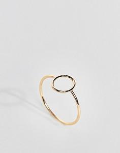 Овальное кольцо ASOS DESIGN - Серебряный