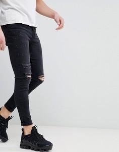 Черные обтягивающие джинсы с рваными коленями Good For Nothing - Черный