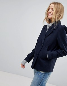 Пальто-бушлат с пышными рукавами New Look - Черный