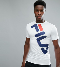 Белая компрессионная футболка с большим логотипом Fila Black Line - Белый