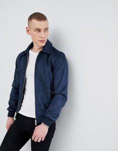 Темно-синяя куртка Харрингтон из искусственной замши River Island - Темно-синий