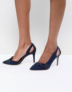 Туфли на каблуке с бантом Coast - Темно-синий