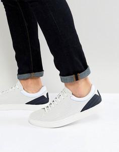 Белые кожаные кроссовки Emporio Armani - Белый