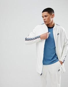 Белая спортивная куртка с полосками сбоку Nike AJ2681-133 - Белый
