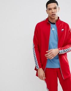 Красная спортивная куртка с полосками сбоку Nike AJ2681-687 - Красный