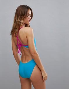 Слитный купальник Nike - Синий