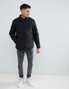 Черная спортивная куртка с подкладкой из искусственного меха River Island - Черный