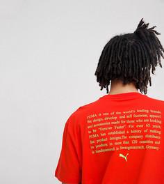 Красная футболка с принтом Puma эксклюзивно для ASOS - Красный