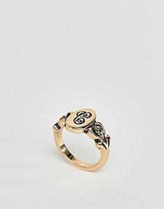 Кольцо с буквой С ASOS DESIGN - Золотой