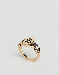 Кольцо с буквой J ASOS DESIGN - Золотой