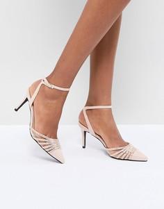 Декорированные туфли-лодочки на среднем каблуке с острым носком True Decadence - Розовый