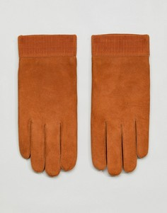 Кожаные перчатки Weekday - Коричневый