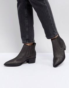 Кожаные ботинки челси Selected - Черный