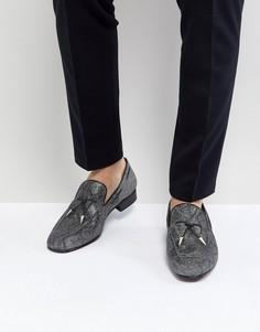 Серые лоферы с кисточками Jeffery West Jung - Серый