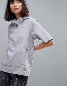 Серая куртка с короткими рукавами Nike Running Flex Essential - Серый