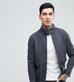 Куртка Харрингтон в тонкую полоску Heart & Dagger - Серый