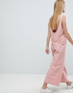 Укороченные широкие брюки Dr Denim - Розовый