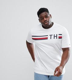 Белая футболка с принтом логотипа Tommy Hilfiger PLUS - Белый