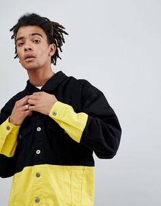 Контрастная джинсовая куртка Granted - Черный