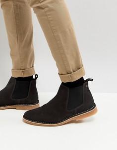 Замшевые ботинки челси Jack & Jones - Черный