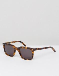 Квадратные солнцезащитные очки в черепаховой оправе Monokel Eyewear Robotnik - Коричневый