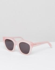 Розовые солнцезащитные очки кошачий глаз Monokel Eyewear Cleo - Розовый