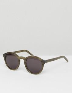 Солнцезащитные очки в круглой зеленой оправе Monokel Eyewear Barstow - Зеленый